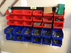 Bins and contents-nails & screws