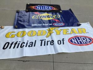 Three NHRA banners