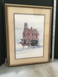 "Framed P Buckley Moss ""Terrace Hill"" S/N 865/1000 Measures 22 x 28"