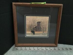 "Framed P Buckley Moss ""How I Love Thee"" S/N 99/1000 Measures 11 x 11"