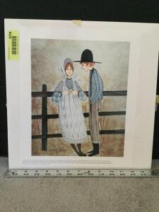 "P Buckley Moss print ""Young Love"" S/N 275/1000 Measures 11 x 13"