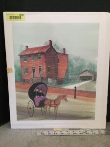 "P Buckley Moss print ""Stonewall Jackson House"" S/N 133/1000 Measures 15 x 17"