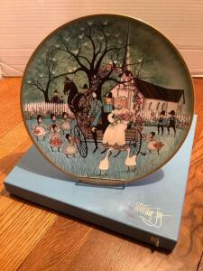 "P Buckley Moss Celebration Series Collector Plate # 1 in the Series ""Wedding Joy"" Plate 1439/5000"