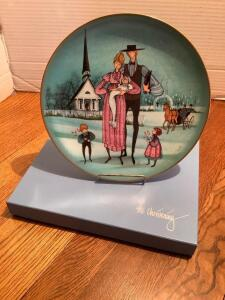 "P Buckley Moss Celebration Series Collector Plate # 2 in the Series ""The Christening"" Plate 1752/5000"