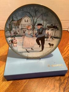 "P Buckley Moss Celebration Series Collector Plate #3 in the Series ""The Anniversary"" Plate 0021/5000"