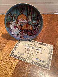 "P Buckley Moss Annual Art Plates series Signed/Dated ""The Night Before Christmas"" 1986 Third in the series 3154/5000"