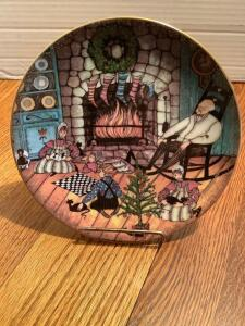 "P Buckley Moss Annual Art Plates series Signed/Dated ""Christmas Warmth"" 1992 Ninth in the series 3053/7500"