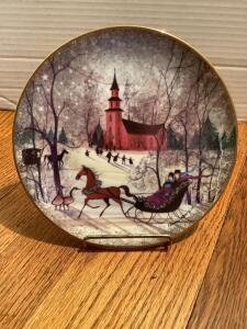 "P Buckley Moss Annual Art Plates series Signed/Dated ""Christmas Night"" 1994 Eleventh in the series 1707/7500"