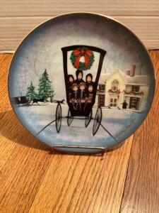 "P Buckley Moss Annual Art Plates series Signed/Dated ""Christmas at Home"" 1995 Twelfth in the series 2449/5000"