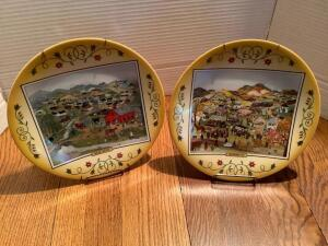 "Two Will Moses collector plates ""Spring Recess"" 134/7500 and ""September Fair"" 401/7500"