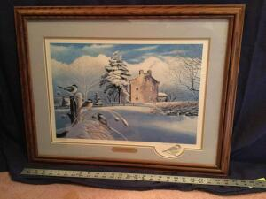 "Patrick J Costello framed print ""Butterworth Inn"" S/N 198/380 Measures 26 x 21"
