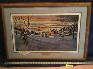 "Patrick J Costello framed & signed ""Cocoa Time"" Measures 33 x 23"
