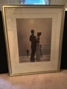 "Framed Jack Vettriano ""Dance me to the End of Days"" Measures 31 x 39"