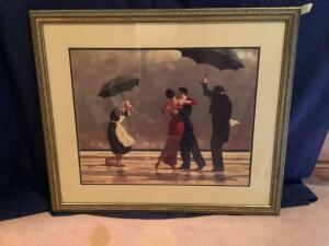 "Framed Jack Vettriano ""The Singing Butler"" Measures 33 x 27"