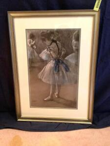 "Edgar Degas ""Dancer"" Measures 20 x 28"