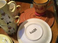 Silverware, Corelle dishes, tea pot, ramekins, drinking glasses, coffee mugs and more - 3