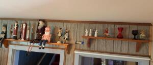 Two shelves of knick knacks