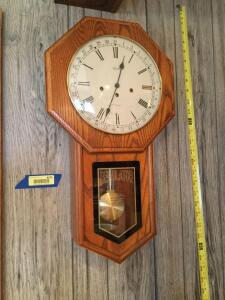 Hermle wall clock. No key.
