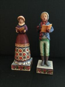 Pair of Jim Shore carolers