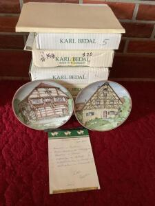 Six Karl Bedal plates from Bradford Exchange See plates listed