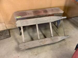 Sled bottom and bench