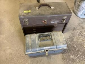 Kennedy tool box with contents and small Stack On tool box. See all photos.