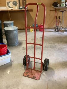 Two wheel furniture dolly.