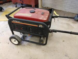 Mi-T-M chore Master 6000 Max wattage 5500 continuous wattage portable gas generator on wheels
