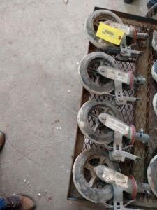 "Set four 8"" scaffold casters with brakes"