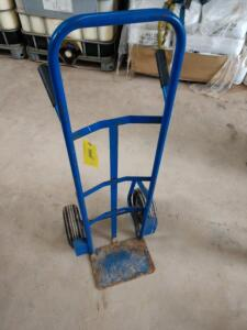 Blue two wheel hand truck