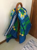"Oak quilt/blanket loop. 45"" tall. Quilt not included."