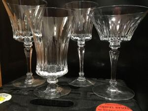 Assorted lead crystal stemware Made in Germany, 24 pieces