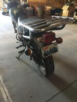 1980 Yamaha motorcycle 250 street bike, runs but needs a battery and tune up, has new tires - 3