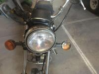 1980 Yamaha motorcycle 250 street bike, runs but needs a battery and tune up, has new tires - 5
