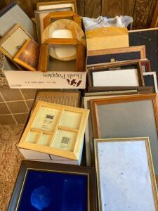 Large selection of photo frames, mats