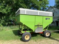 "Parker Model 2500 gravity wagon w/ Knowles gear with 12.5 - 15 tires comes with spare tires and rim,  12"" extension plus 2 x 6 board - 3"