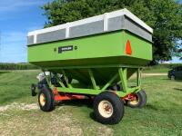 "Parker Model 2500 gravity wagon w/ Knowles gear with 12.5 - 15 tires comes with spare tires and rim,  12"" extension plus 2 x 6 board - 4"