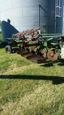 Oliver 5 bottom plow w/ cylinder and Midwest harrow