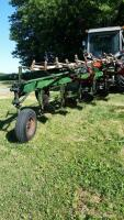 Oliver 5 bottom plow w/ cylinder and Midwest harrow - 2