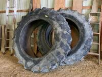 Two 18.4 x 38 Firestone rear tractor tires