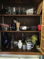 Glasses, mugs, stemware, vases, Corningware sauce pans, lots of other miscellaneous. Bring boxes for this lot! - 2