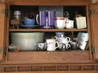 Glasses, mugs, stemware, vases, Corningware sauce pans, lots of other miscellaneous. Bring boxes for this lot! - 3