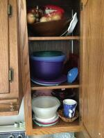 Glasses, mugs, stemware, vases, Corningware sauce pans, lots of other miscellaneous. Bring boxes for this lot! - 4