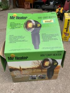 Mr. Heater golf cart heater Mode MH4GC and propane tanks