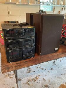 Fisher stereo system w Zenith Allegro 2000 speakers-Model TAD-993
