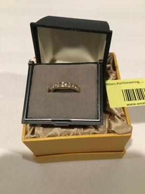 Women's 14K size 6 diamond band  **See updated photos**