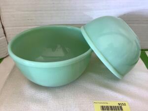 Fire King jadeite-two mixing bowls