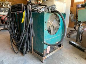 Air Products Model DA250 AC/DC arc welder on a cart with wheels