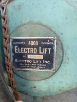 ElectroLift 4,000 lb overhead winch from a factory with trolley wheels and controller brand  - 2