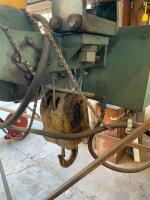 ElectroLift 4,000 lb overhead winch from a factory with trolley wheels and controller brand  - 5